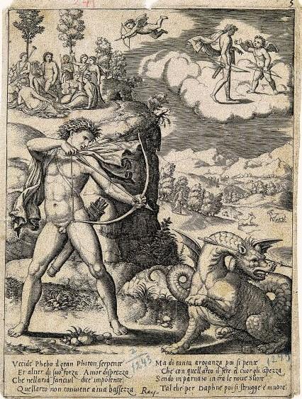 Apolo serpiente piton